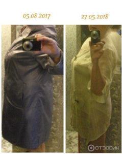 До и после кето диета 1